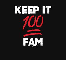 Keep it 100 fam - version 2 - White / Red Unisex T-Shirt
