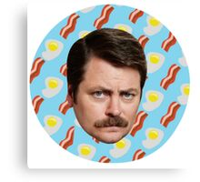 Ron N Bacon N Eggs Canvas Print