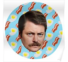 Ron N Bacon N Eggs Poster