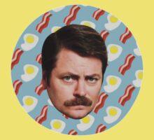 Ron N Bacon N Eggs One Piece - Short Sleeve