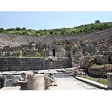 The Odeum: Backstage at Ephesus Photographic Print