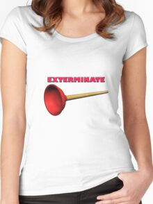 Exterminate (the Dalek race) Women's Fitted Scoop T-Shirt