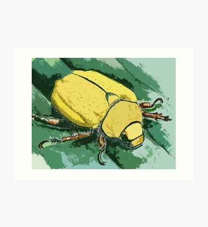 Yellow Beetle Art Print
