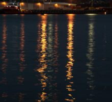 Hobart harbour lights Sticker