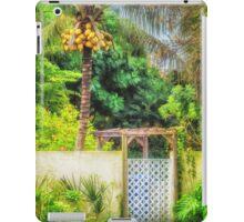 Coconut palm tropical gateway iPad Case/Skin