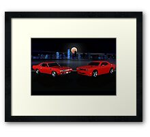 The Cuda & The Challenger Framed Print