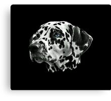 Dalmatian Black And White Firehouse Dog Canvas Print
