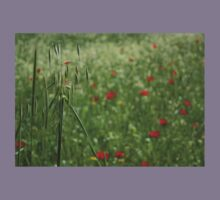 Seed Head With A Beautiful Blur of Poppies Background  Kids Tee