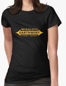 Wiggleys' Earthmint Chewy Worms Black Tee/Poster Womens Fitted T-Shirt