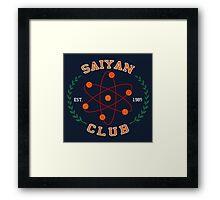 Saiyan Club Framed Print