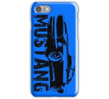 Ford Mustang - Front with words iPhone Case/Skin