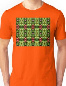 Red diamonds and green Unisex T-Shirt