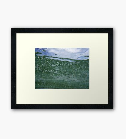 The sea is green. Framed Print