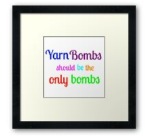 Yarn Bombs! Framed Print