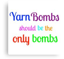 Yarn Bombs! Canvas Print