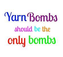 Yarn Bombs! Photographic Print