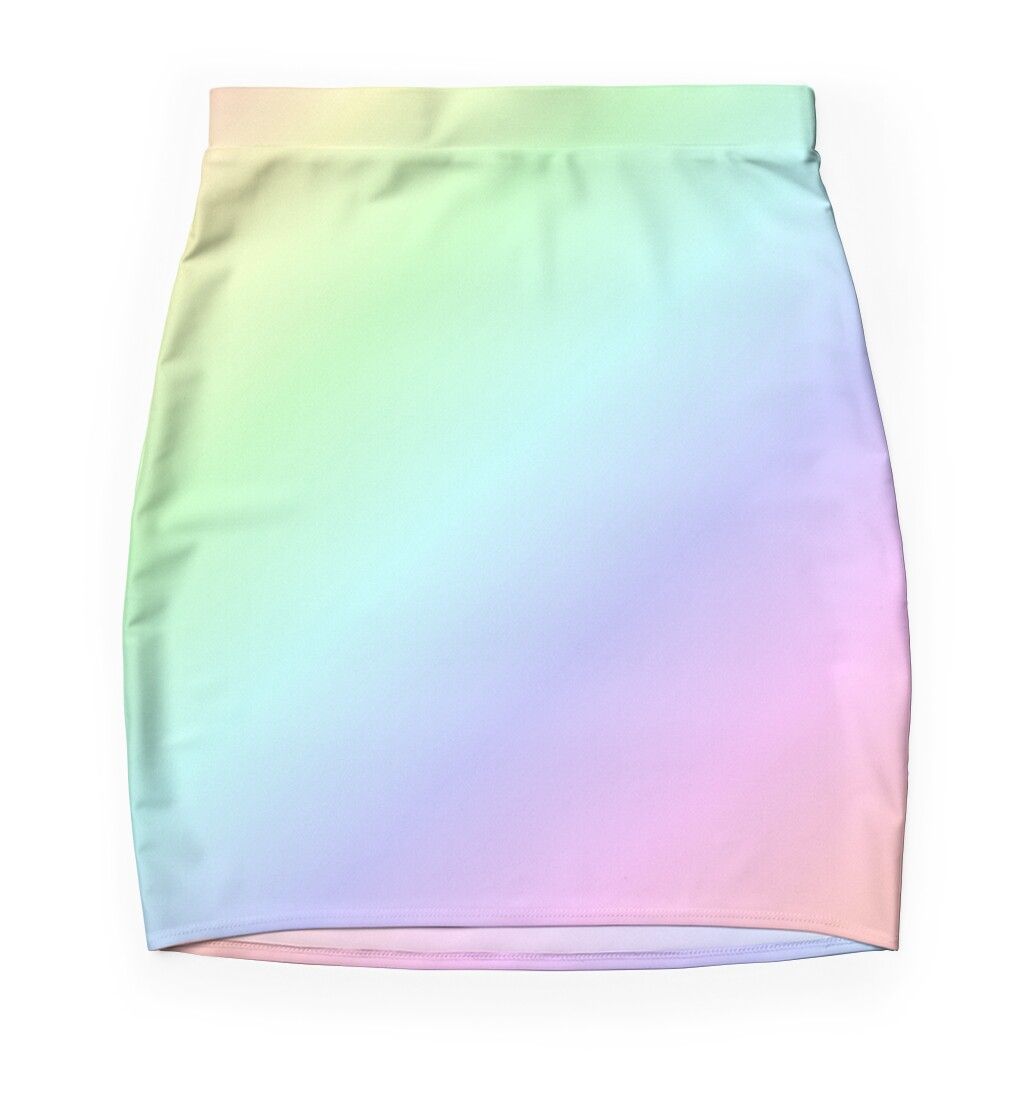quot rainbow pastel quot pencil skirts by tealglow redbubble