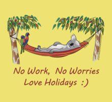 Hammock Sleeping Koala - No work, no worries One Piece - Short Sleeve