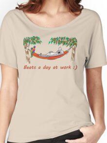 Hammock Sleeping Koala - Beats a day at work Women's Relaxed Fit T-Shirt