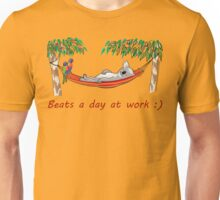Hammock Sleeping Koala - Beats a day at work Unisex T-Shirt