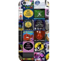 We Talk Games Cover Art Stacked iPhone Case/Skin