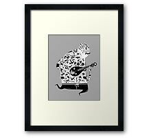 playing pipa Framed Print