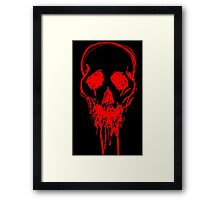 Blood Skull. Framed Print