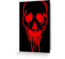 Blood Skull. Greeting Card