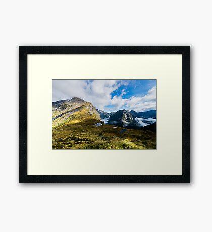 Milford Track - The Mackinnon Pass Framed Print