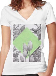Spring Women's Fitted V-Neck T-Shirt