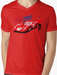 classic racing Mens V-Neck T-Shirt