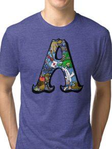 Doodle Letter A Tri-blend T-Shirt