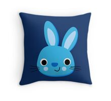 CUTE BLUE BUNNY, by Furrphy's Throw Pillow