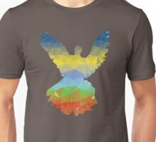 Colorful Polygonal Pigeon 3 Unisex T-Shirt