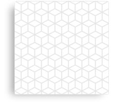Light grey and white blocks Canvas Print