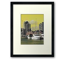Yellow Regeneration, Ipswich Waterfront Framed Print