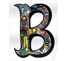 Doodle Letter B Poster