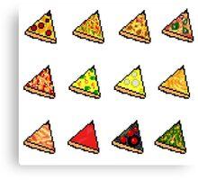 Pixel Pizza Party Canvas Print