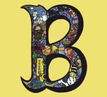 Doodle Letter B One Piece - Short Sleeve