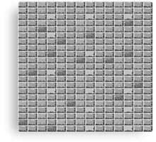 Pixel Bricks (Black and White) Canvas Print