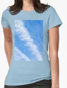 Clouds with blue sky Womens Fitted T-Shirt