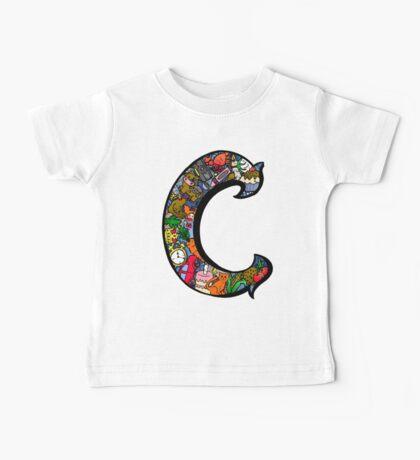 Doodle Letter C Baby Tee