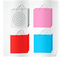 colorful bags Poster