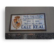 Calle Real Canvas Print