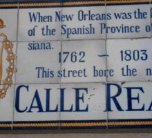 Calle Real Sticker