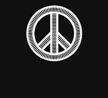 Black isolated creative musical peace sign Unisex T-Shirt