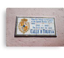 Calle d Tolosa Canvas Print