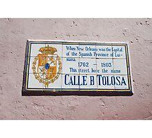 Calle d Tolosa Photographic Print