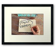 Motivational concept with handwritten text DIGITAL MARKETING Framed Print