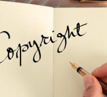 Motivational concept with handwritten text COPYRIGHT Sticker